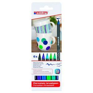 Rotuladores cerámica (tonos fríos: azules/verdes)