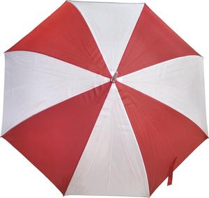 Paraguas Unisex Rojo/Blanco Largo