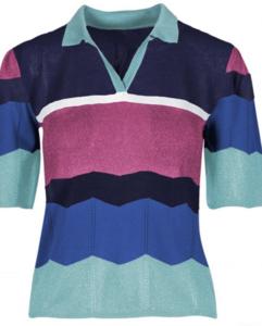 Jersey multicolor cuello