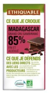 Chocolate Bio %85  100 Gr  Madagascar-Lazan Ny Sambirano