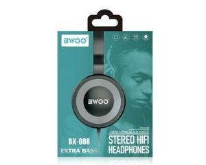 Auricular Diadema Con Microfono BWOO BX-008 Gris