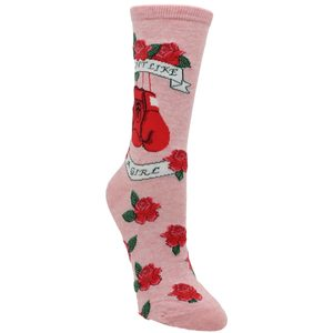 CALCETINES SOCKSMITH FIGHT LIKE A GIRL ROSA
