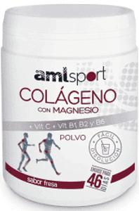 Colágeno magnesio  AML sport polvo 350gr sabor fresa