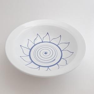 Ensaladera decorada artesanía cerámica