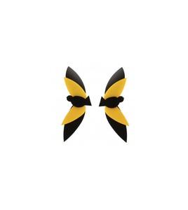 Pendientes negro y amarillo