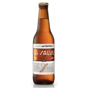 Cerveza La salve lager auténtica bot. 25 cl (Caja 24 botellines)