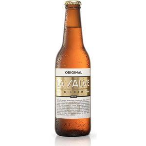 Cerveza La salve original bot. 33 cl (Caja 24 botellines)