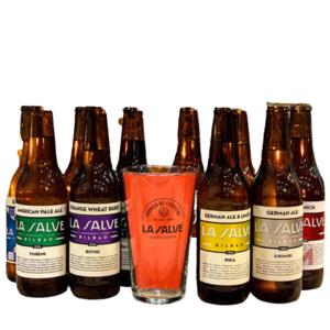 Cerveza Pack experiencia la salve con vaso cervecero