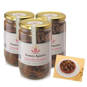 Lote 3 Frascos Caracoles al Natural  (Helix Aspersa) 660g. Gourmet
