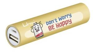 """POWERBANK BATERIA EXTERNA 2600mAh CON MENSAJE """"DON´T WORRY BE HAPPY"""""""
