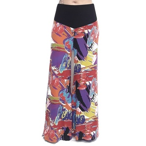 Pantalon largo palazzo multicolor.  RO431M