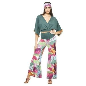 Pantalon largo palazzo multicolor.  RO431R
