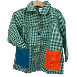 Bata colegial bolsillos colores