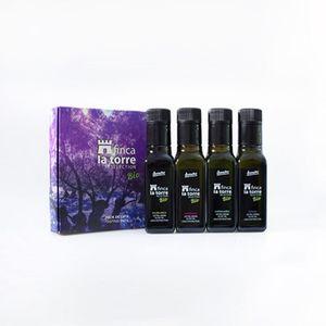 Aceite de oliva virgen extra ecológico Finca La Torre – 4 x 100 ml