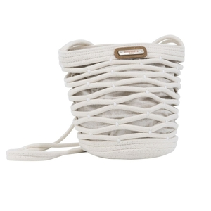 Bolso bandolera Simo Sastre de algodon Whitney beige. BO492B