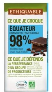 Chocolate 98%  Bio 100G Ecuador -Fonmsoeam