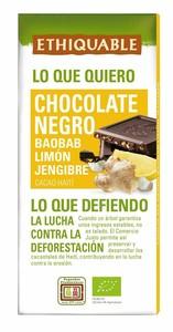 Chocolate 72%  Jengibre Limon 100G  Feccano - Haiti Bio