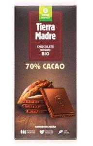 Chocolate Negro 70%  Bio 100G  Rep Dominicana  Filipinas