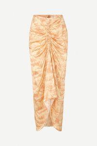 Falda pareo estampado amarillo