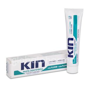 KIN pasta de dientes con flúor. Anticaries, Antiplaca.