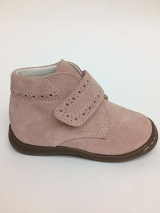 Botas de serraje en color rosa