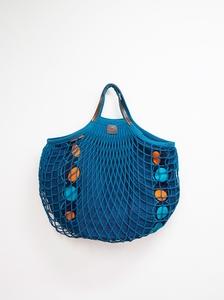 Bolso sarea azul turquesa /asa corta