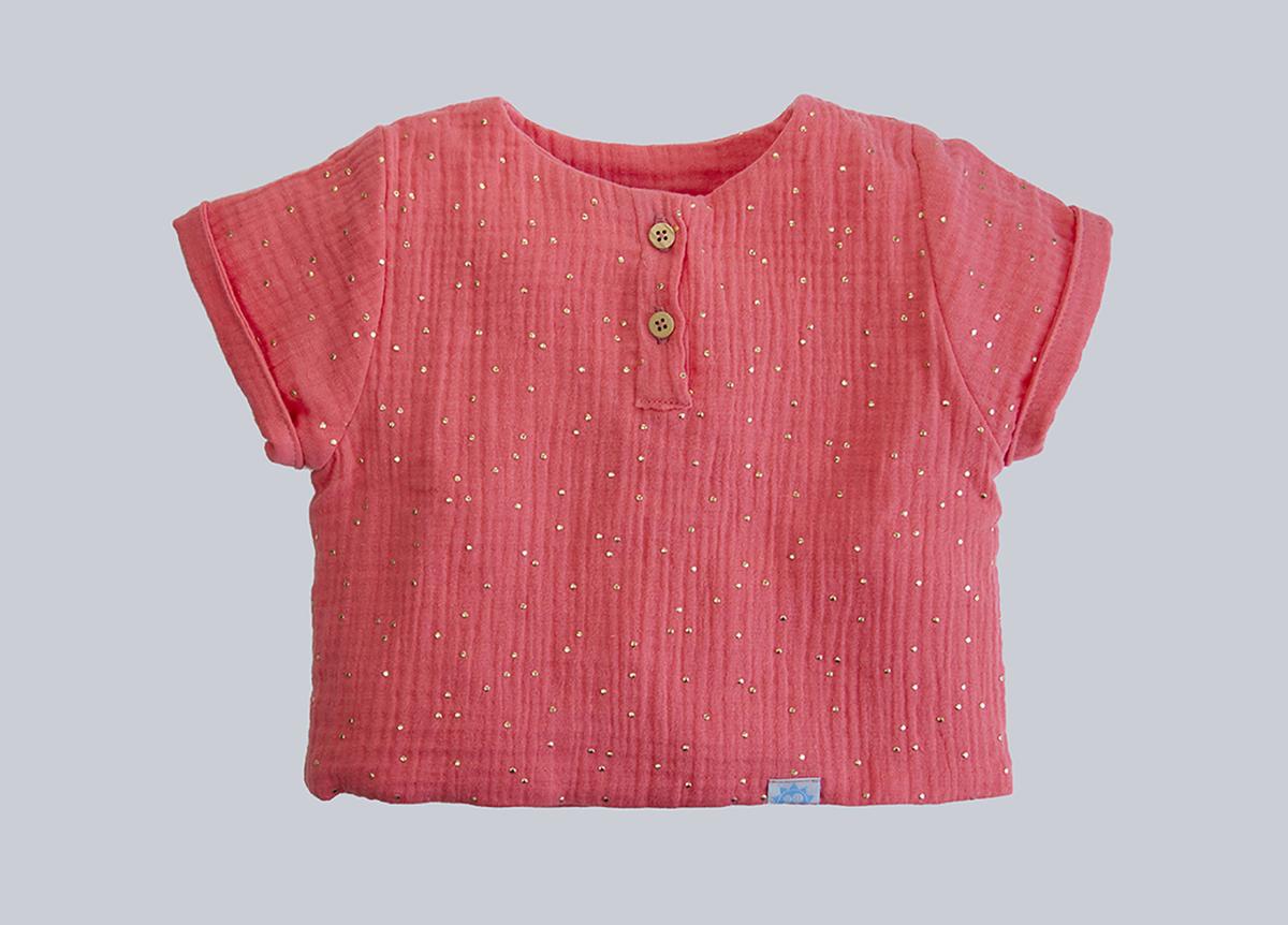 Camisa Muselina Coral