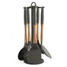 Juego de 5 utensilios de cocina con soporte